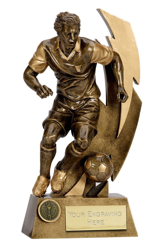 Gold Flash Football Figure Trophies