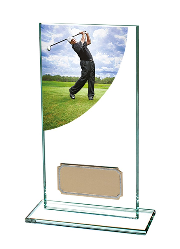 Glass Male Golf Trophies