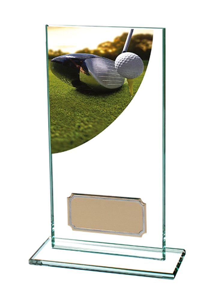 Glass Golf Driver Trophies