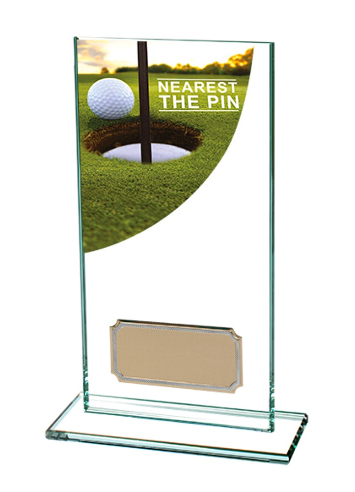 Nearest The Pin Golf Glass Trophies