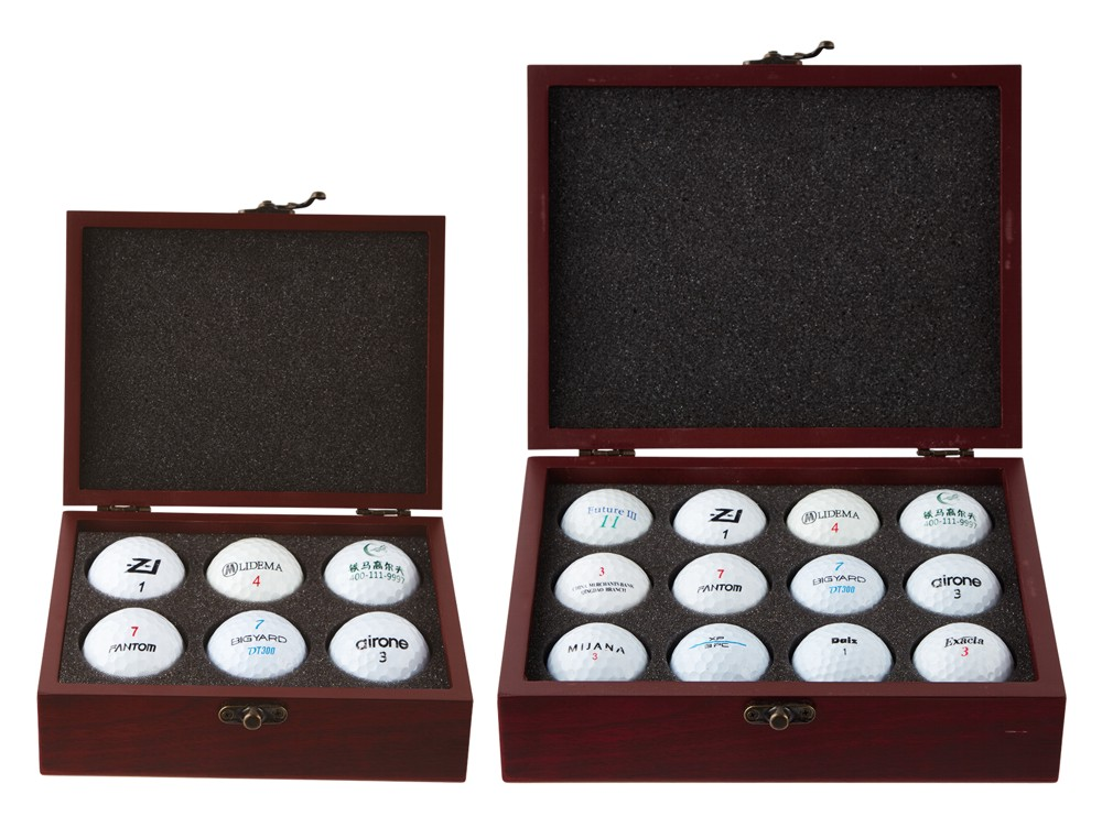 Personalised Wooden Golf Ball Box