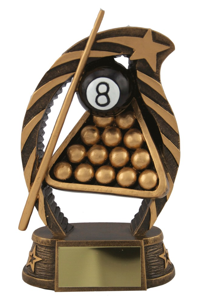 Resin 8 Ball Pool Snooker Trophies