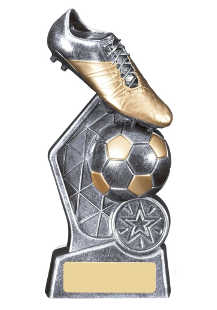 Hex Gunmetal Football Trophies