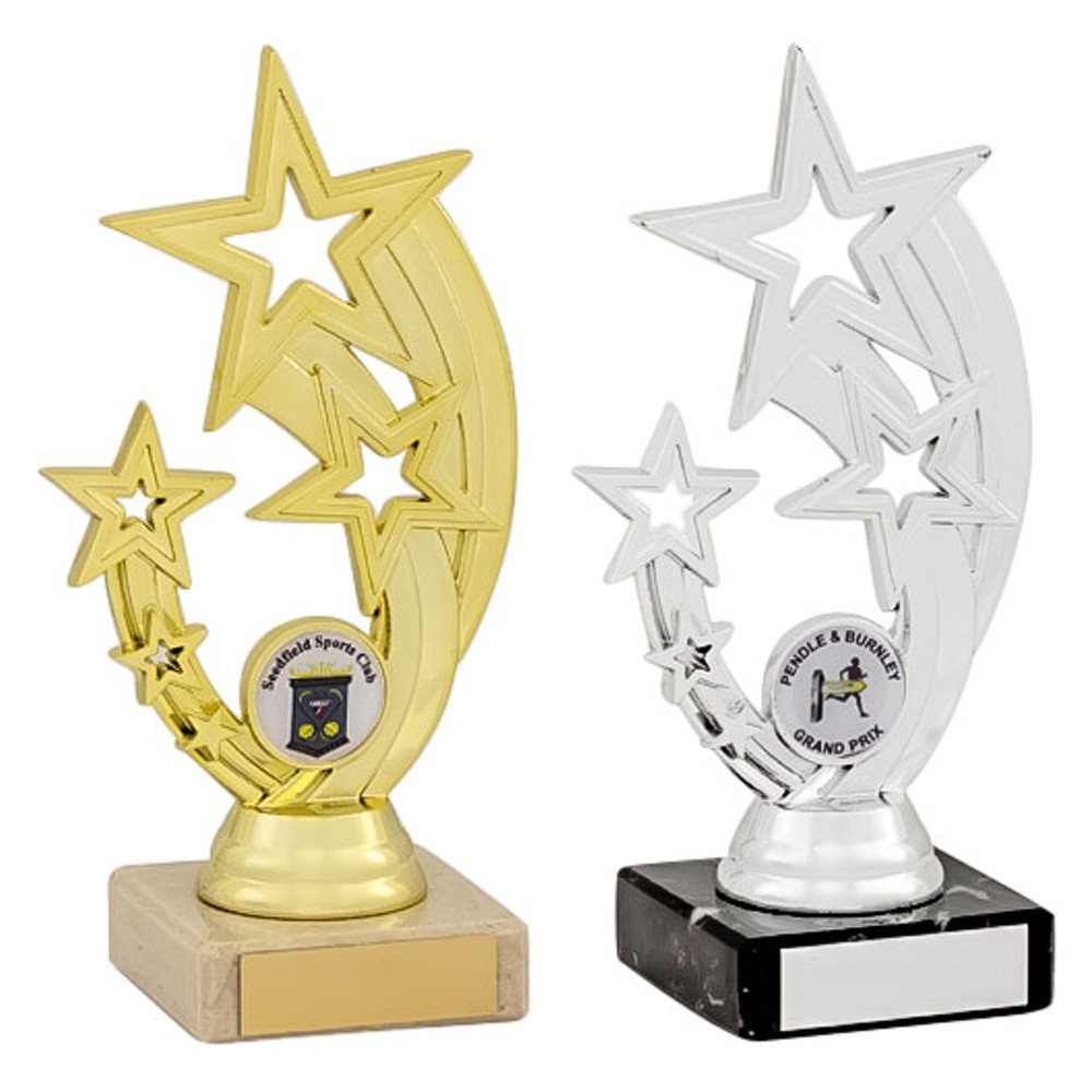 Gold and Silver Flying Star Trophies