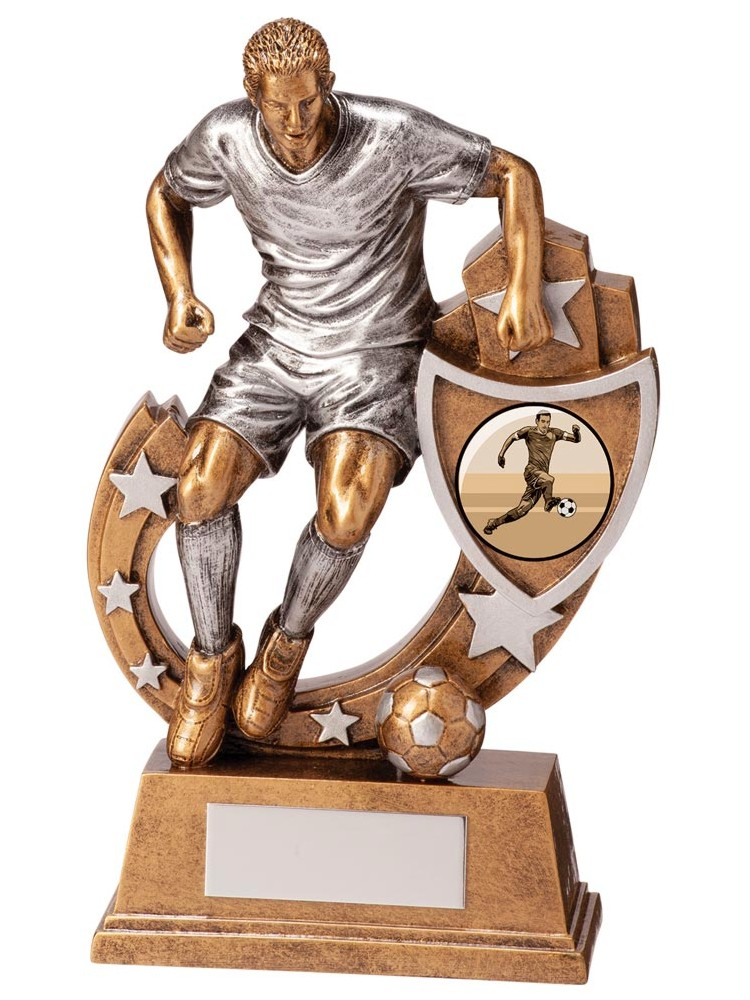 Resin Galaxy Male Football Trophies