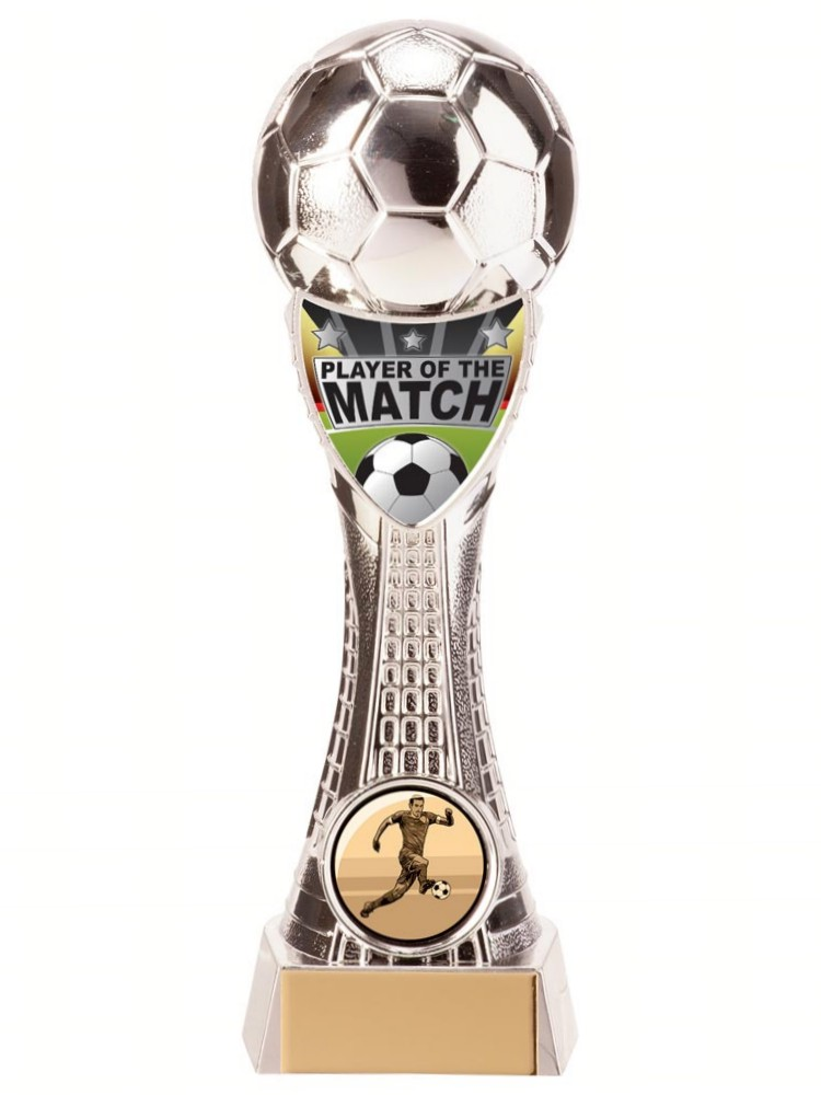 Silver Valiant Player of the Match Football Trophies