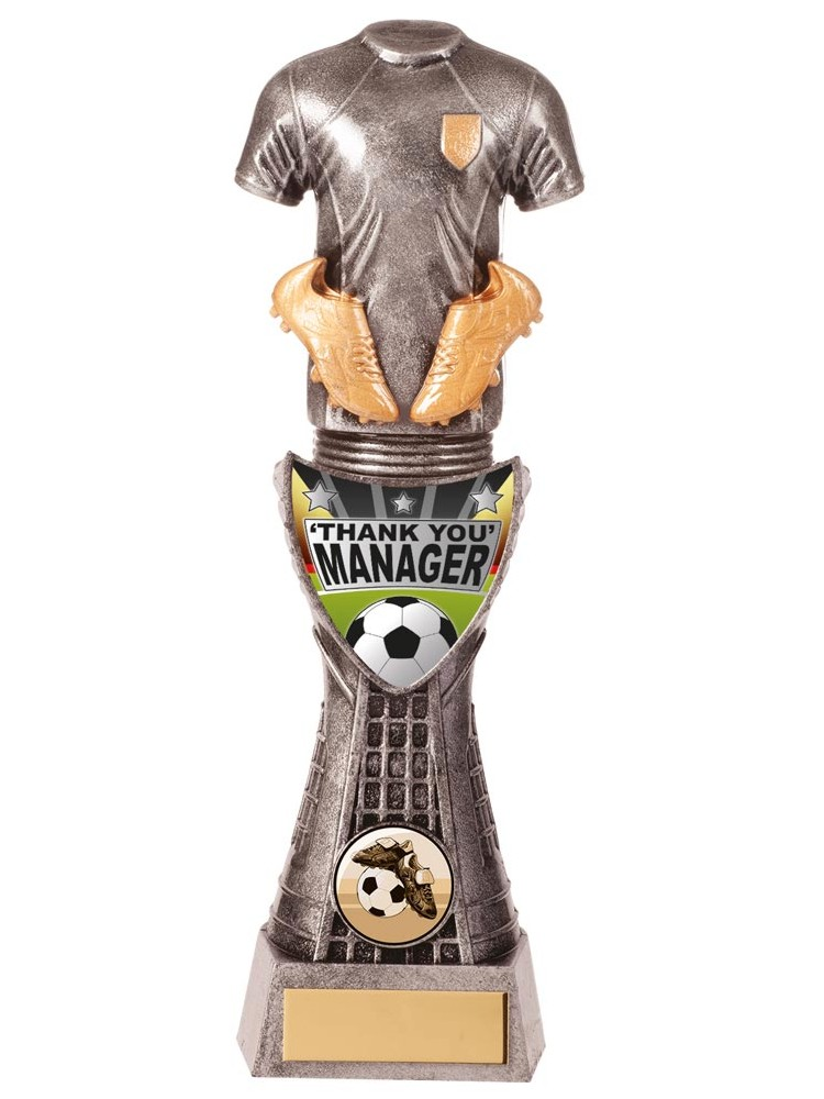 Valiant Thank You Manager Football Trophies