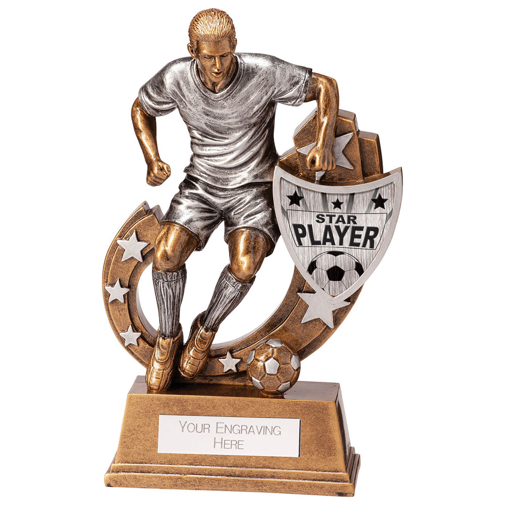 Galaxy Star Player Football Trophies