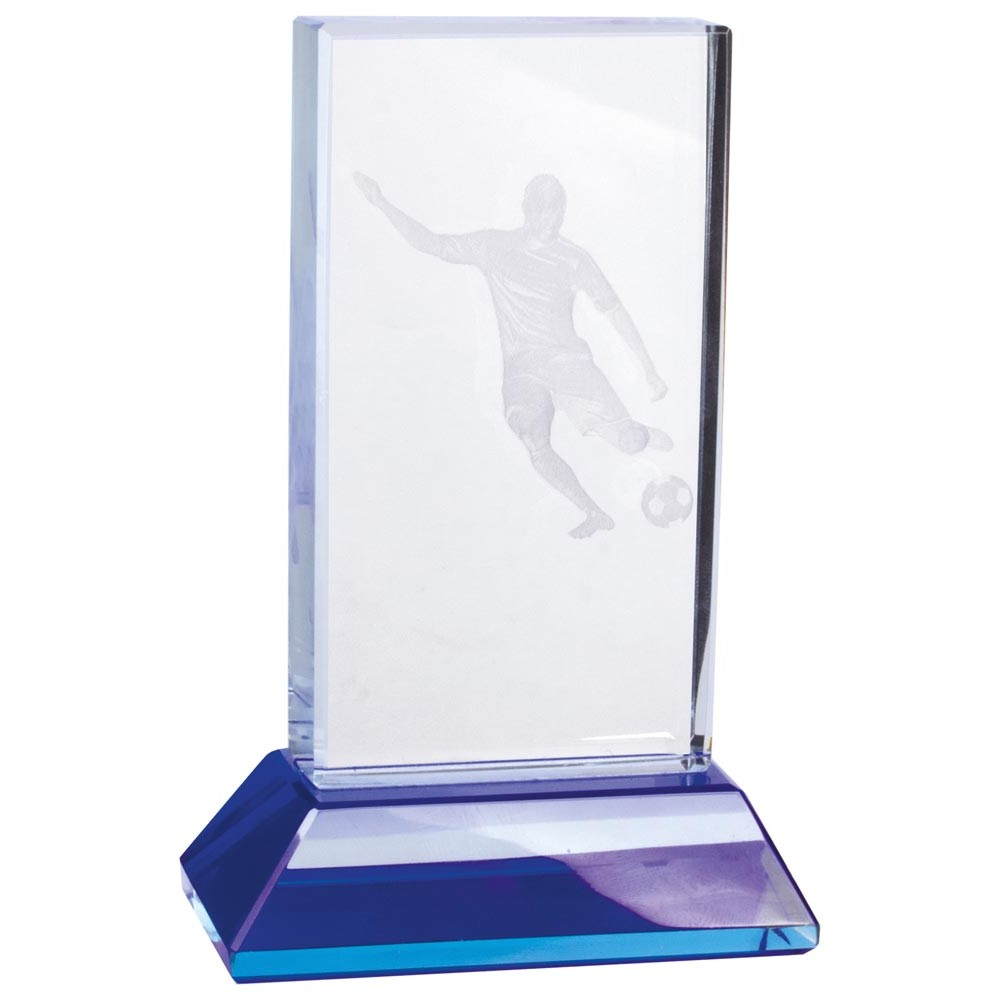 Davenport 3D Crystal Football Trophies