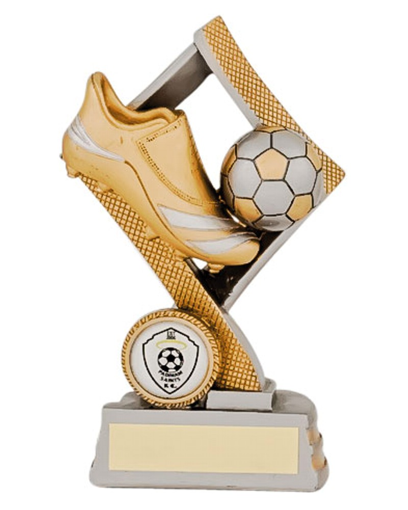 Resin Gold Football Boot and Ball Trophies
