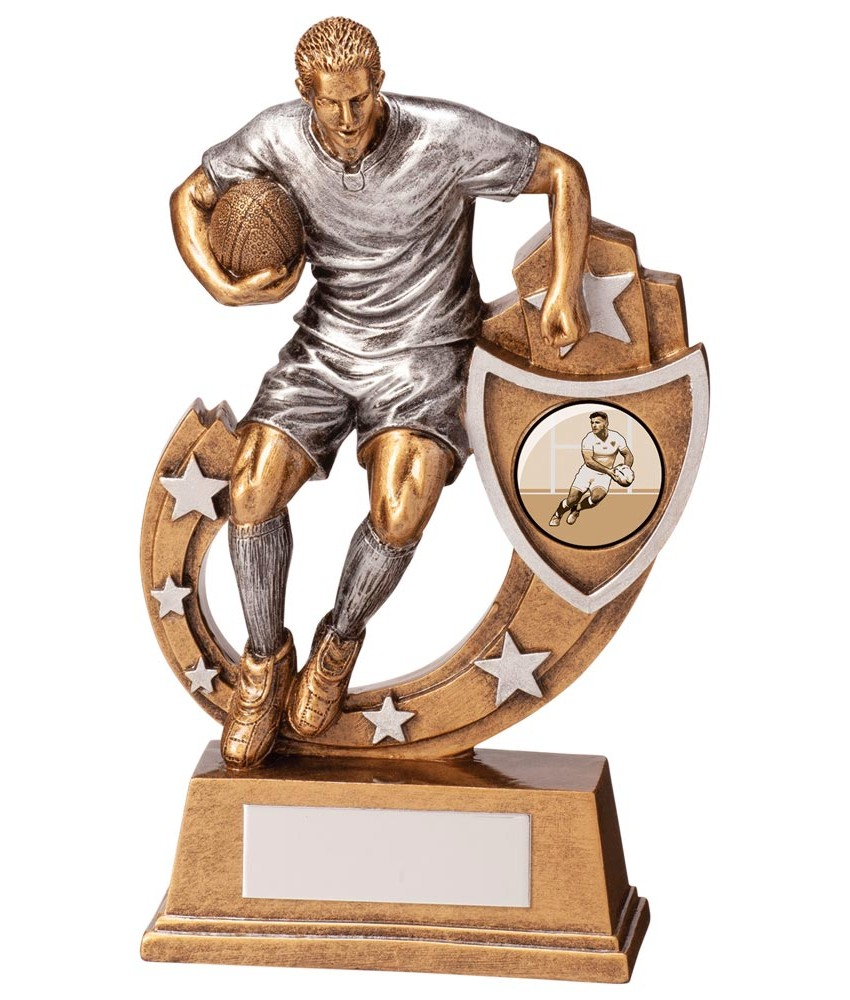 Resin Galaxy Rugby Figure Trophies