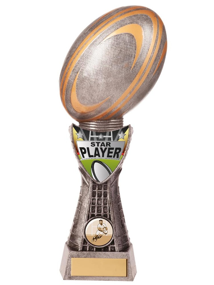 Valiant Star Player Rugby Trophies