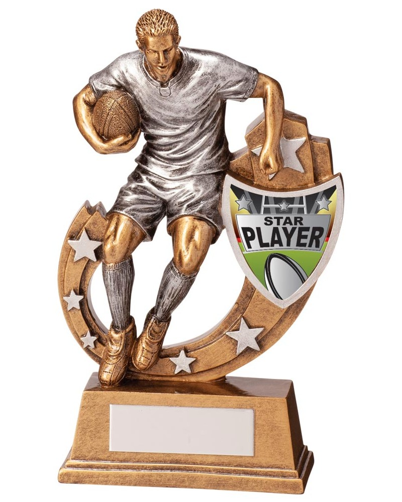 Galaxy Star Player Rugby Trophies