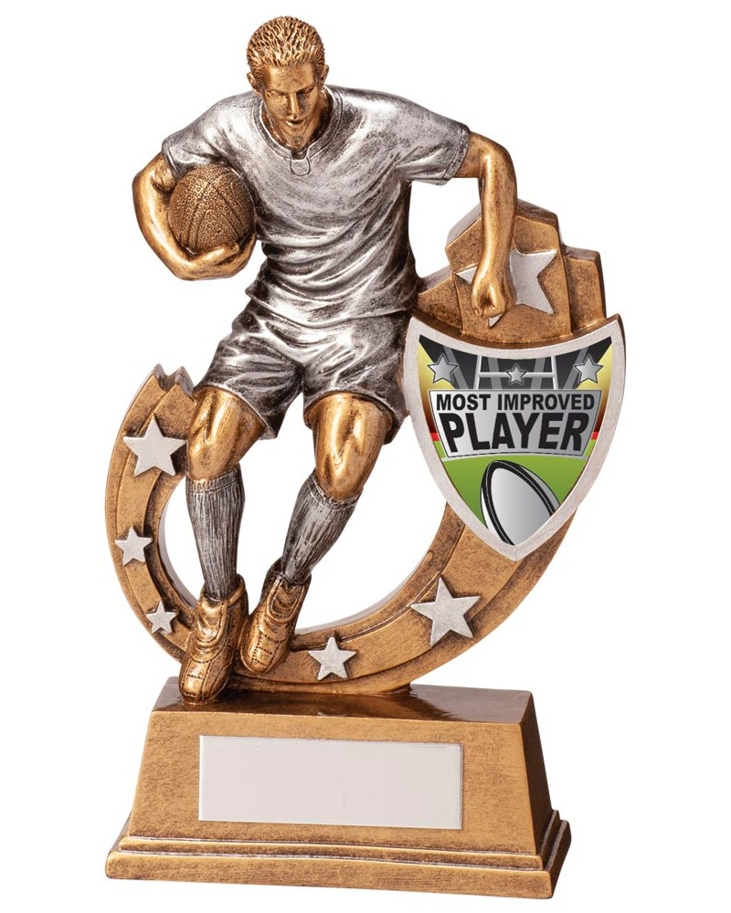 Galaxy Most Improved Player Rugby Trophies