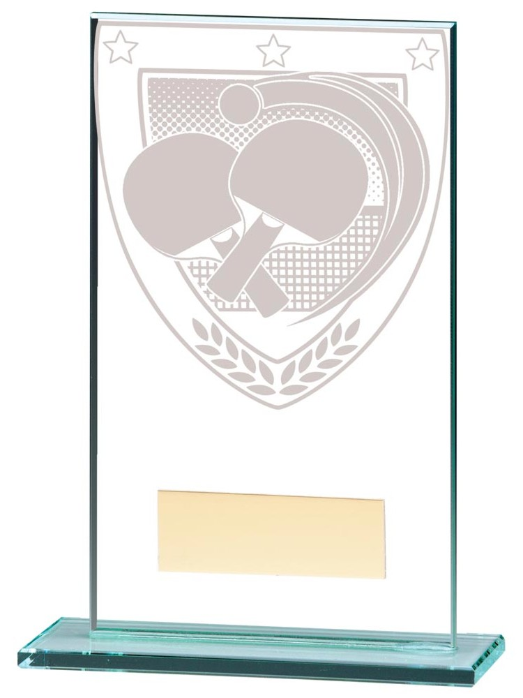 Millennium Table Tennis Glass Trophies