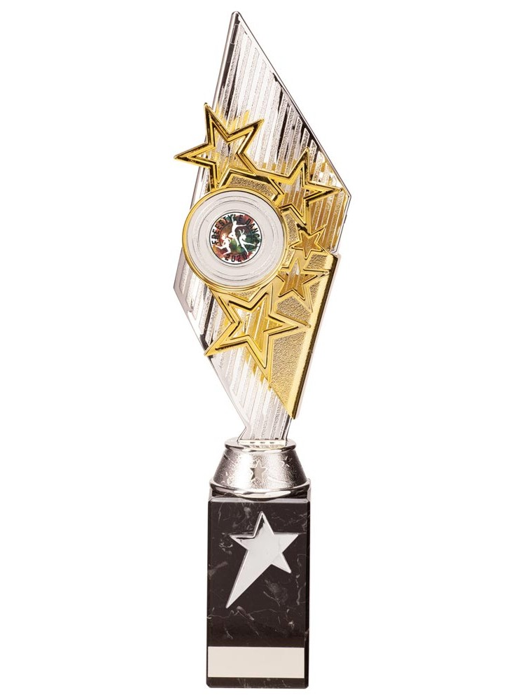 Silver and Gold Pizzazz Star Trophies