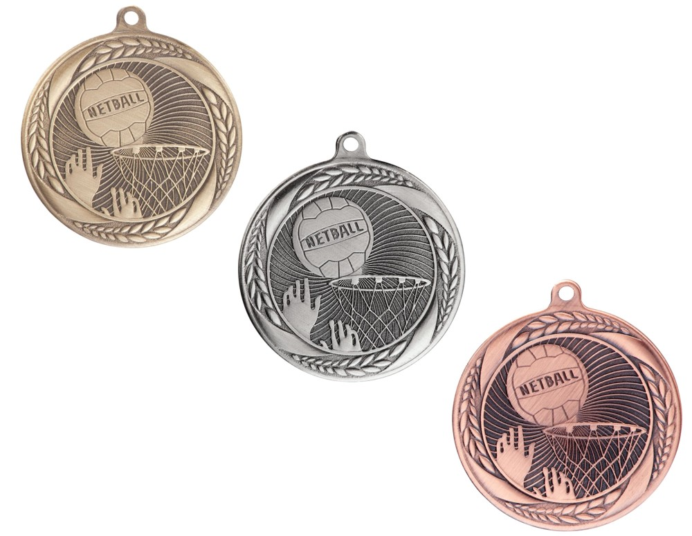 Typhoon Netball Medals and Ribbons
