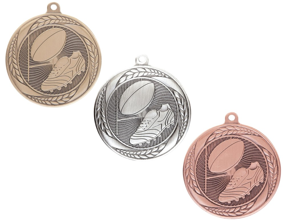 Typhoon Rugby Medals with Ribbons