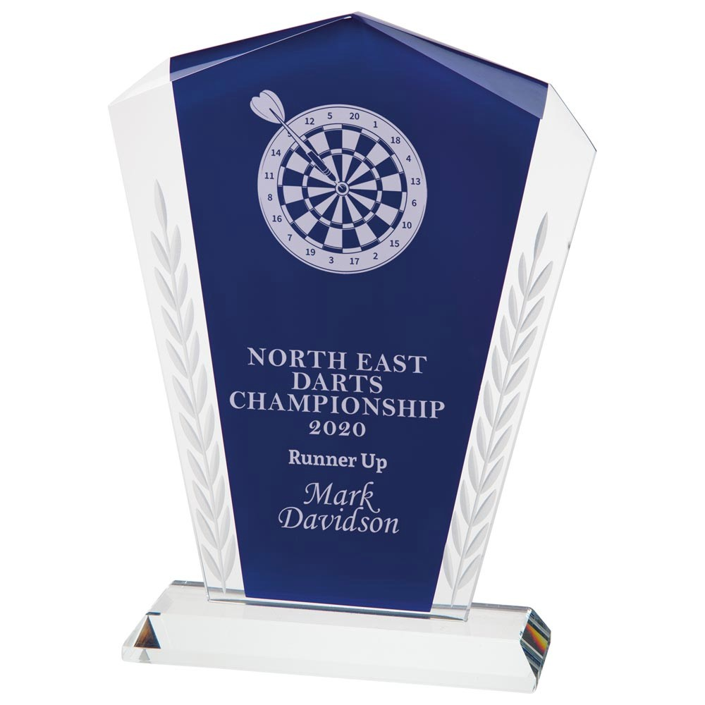Engraved Unity Blue Crystal Awards