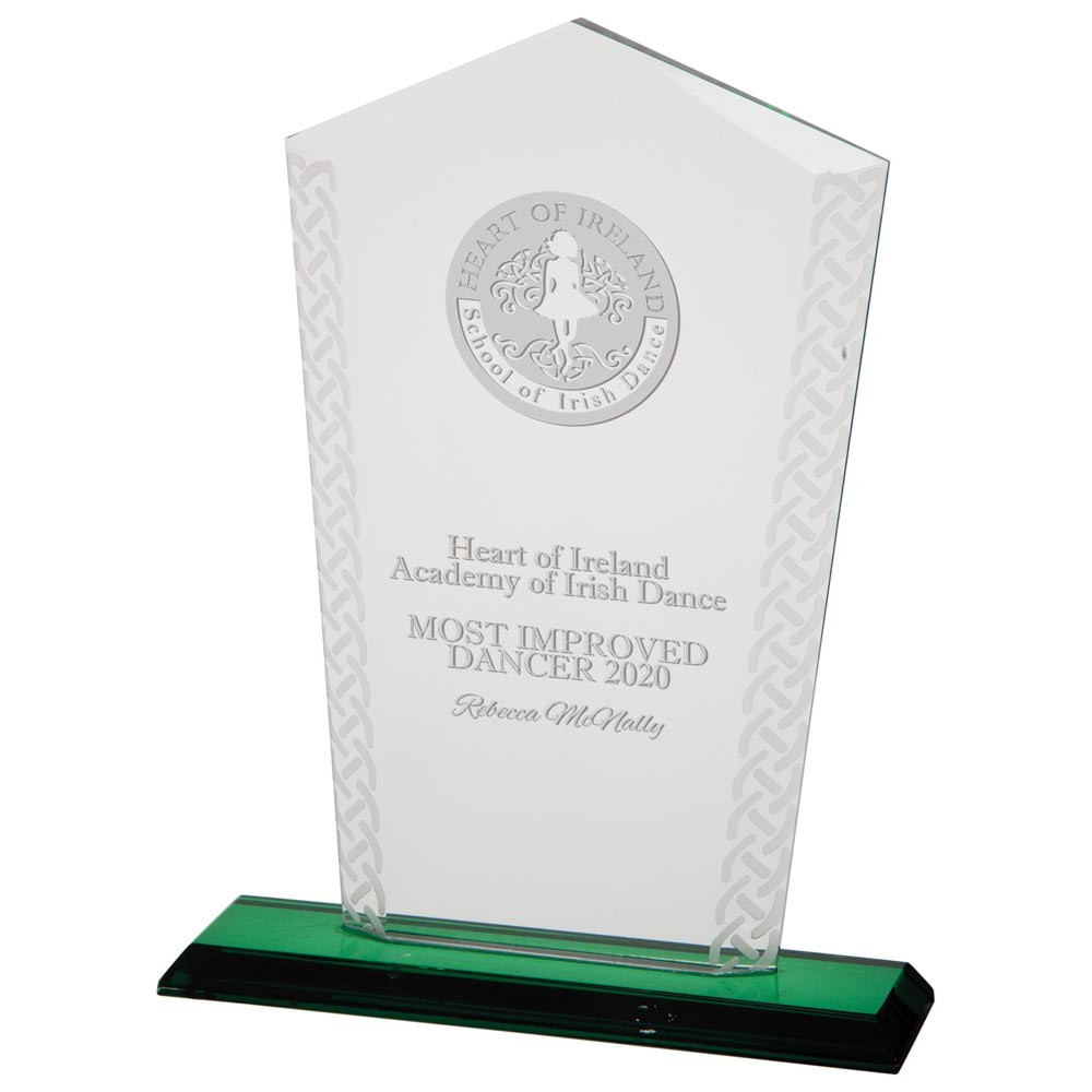 Engraved Horizon Celtic Crystal Trophies
