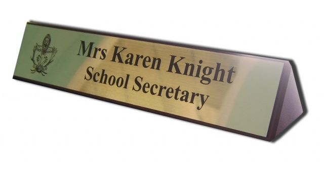 Wooden Desk Name Stand A1 Trophies