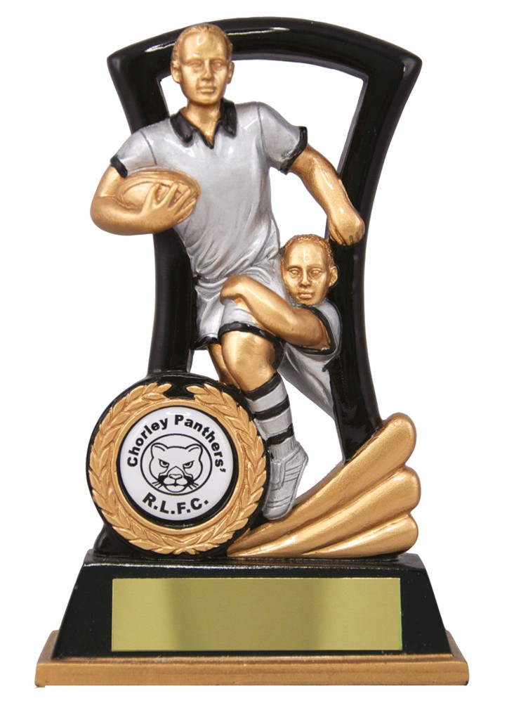 Rugby Theme Trophies