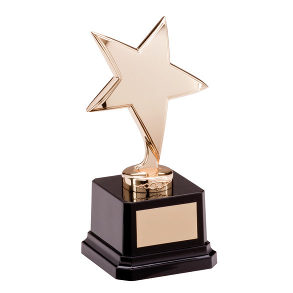 Challenger Nickel Plated Star Trophies