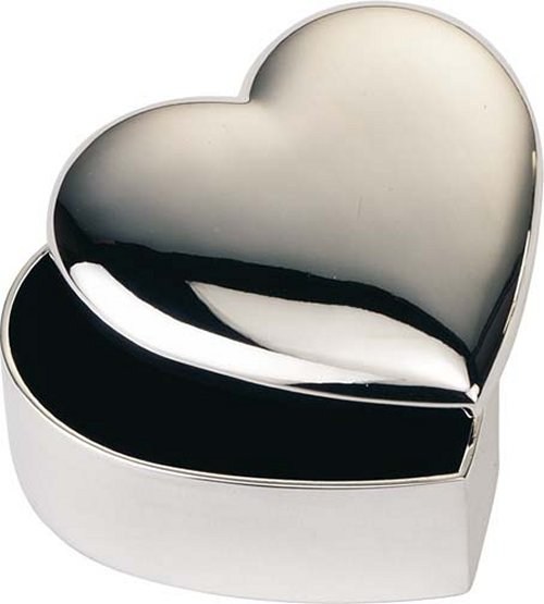 Engraved Heart -Square-Round Jewellery Trinket Box