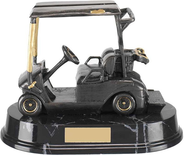 Golf Buggy Resin Trophy